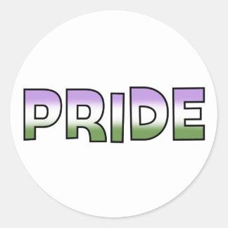 Genderqueer Pride Round Sticker