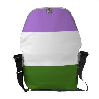 GENDERQUEER PRIDE STRIPES DESIGN COURIER BAG
