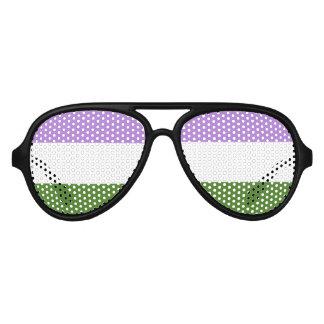 GENDERQUEER PRIDE STRIPES DESIGN -.png Sunglasses