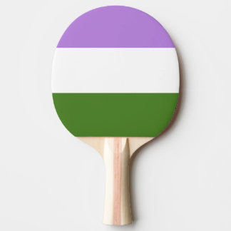 GENDERQUEER PRIDE STRIPES DESIGN -.png Ping Pong Paddle