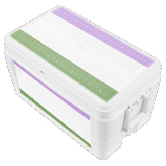 GENDERQUEER PRIDE STRIPES DESIGN -.png Igloo Ice Chest