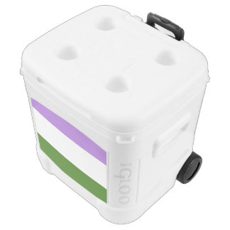 GENDERQUEER PRIDE STRIPES DESIGN -.png Roller Cooler