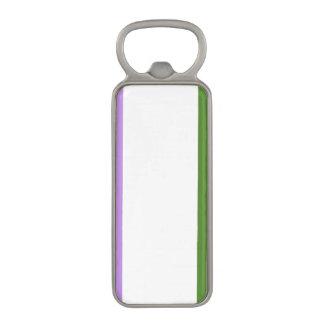 GENDERQUEER PRIDE STRIPES DESIGN -.png Magnetic Bottle Opener