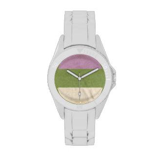 GENDERQUEER PRIDE VINTAGE DESIGN - 2014 PRIDE png Wristwatch