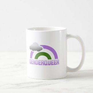 GENDERQUEER RAINBOW COFFEE MUG