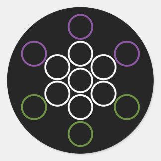 genderQueer sacred circles Round Sticker