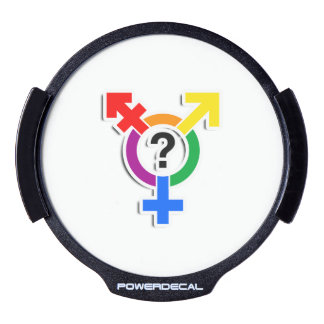 GENDERQUEER SYMBOL RAINBOW 3D -.png LED Car Window Decal