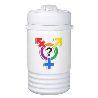 GENDERQUEER SYMBOL RAINBOW 3D -.png Igloo Beverage Cooler