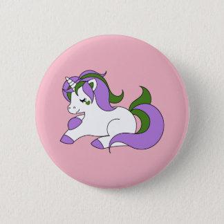 Genderqueer unicorn 6 cm round badge