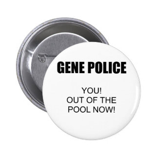 Gene Police 6 Cm Round Badge