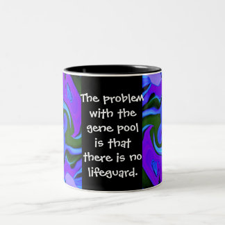 gene pool joke Two-Tone mug