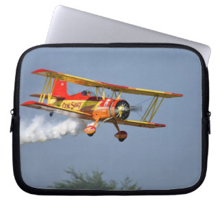 Gene Soucy performing aerobatics in Grumman Laptop Sleeve