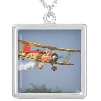 Gene Soucy performing aerobatics in Grumman Silver Plated Necklace