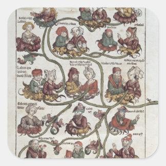 Genealogical tree of Laban Square Sticker