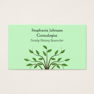 Genealogist Genealogy Tree Custom Business Card 2