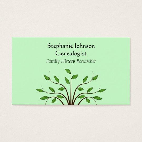 Genealogist Genealogy Tree Custom Business Card 2
