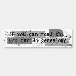 GENEALOGISTS DON T SIN BUMPER STICKER