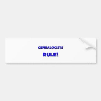 Genealogists Rule! Bumper Sticker