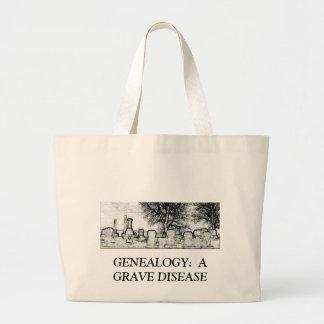 GENEALOGY:  A GRAVE DISEASE JUMBO TOTE BAG