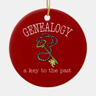 Genealogy a Key to the Past Ornament