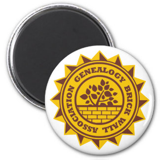 Genealogy Brick Wall Association 6 Cm Round Magnet