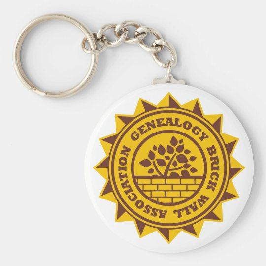 Genealogy Brick Wall Association Basic Round Button Key Ring