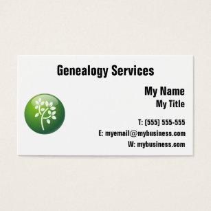 genealogy business cards