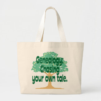 Genealogy: Chasing Your Own Tale Large Tote Bag