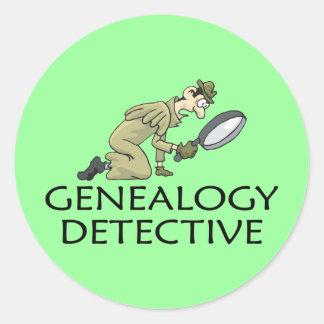 Genealogy Detective Round Sticker