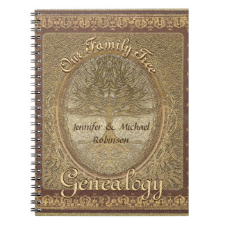 Genealogy Family Tree Spiral Note Books