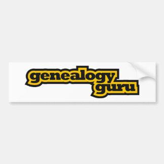 Genealogy Guru Car Bumper Sticker
