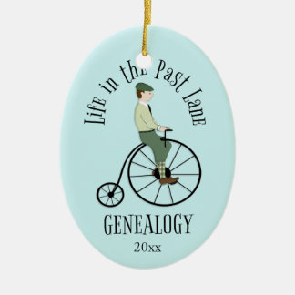 Genealogy Life in the Past Lane Holiday Ornament