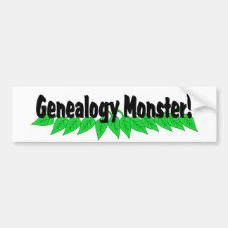 Genealogy Monster Bumper Sticker