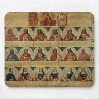 Genealogy of the Inca rulers and their Spanish Mouse Mat