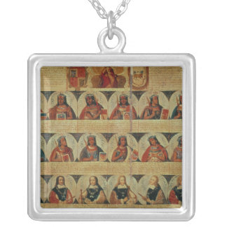Genealogy of the Inca rulers and their Spanish Silver Plated Necklace