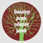 Genealogy: People Collecting People Stickers