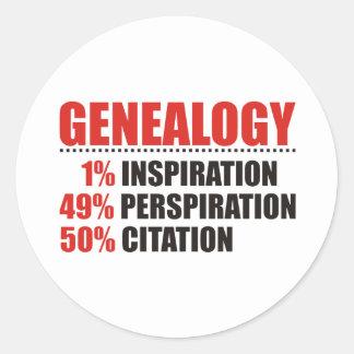 Genealogy Percentages Classic Round Sticker