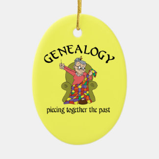 Genealogy Piecing Together The Past Ornament