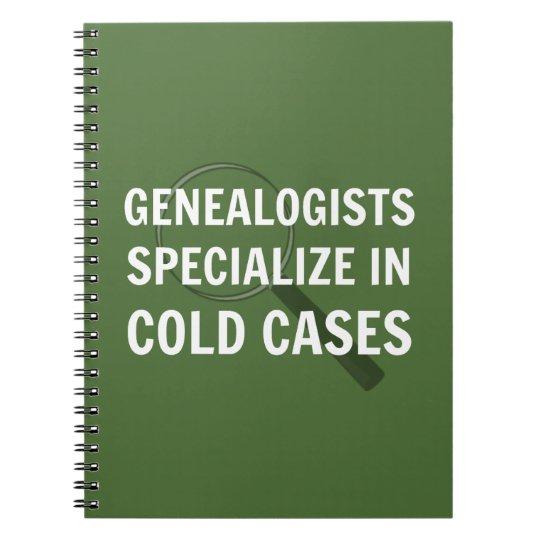 Genealogy Spiral Bound Notebook (Green)