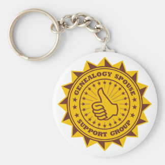 Genealogy Spouse Support Group Basic Round Button Key Ring