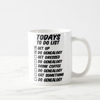 Genealogy To Do List Basic White Mug