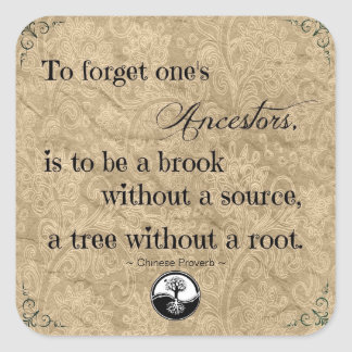 Genealogy To Forget Ones's Ancestors Sticker