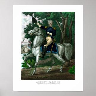 General Andrew Jackson On Horseback Poster