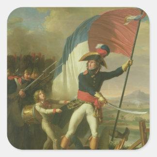 General Augereau  on the Bridge Square Sticker