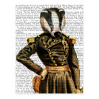 General Badger Postcard