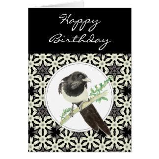 General Birthday Magpie Bird, Nature Greeting Card