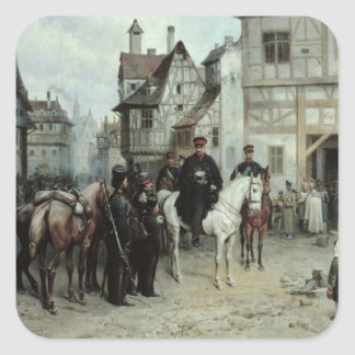 General Blucher Square Sticker