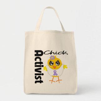General Cancer Activist Chick Canvas Bag