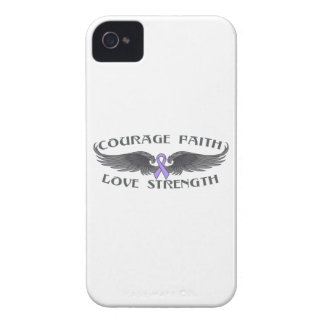 General Cancer Courage Faith Wings Case-Mate iPhone 4 Cases