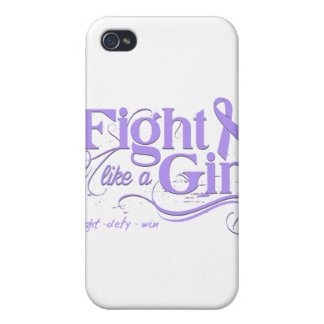 General Cancer Fight Like A Girl Elegant iPhone 4 Cover